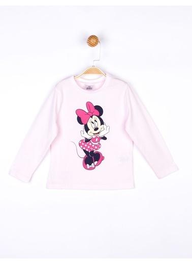 Minnie Mouse   Uzun Kol Tişört 18106 Pembe
